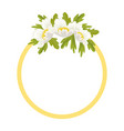 round frame decorated white anemone flowers vector image vector image