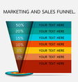 sales and marketing funnel infographic vector image vector image