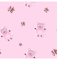 Seamless pattern with pig and chinese zodiac sign vector image