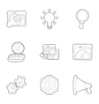SEO promotion icons set outline style vector image vector image