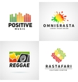 Set of positive africa ephiopia flag logo design