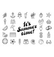 set summer icon design elements summer time vector image