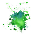 single big green-blue watercolor splash vector image