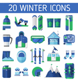 Ski Resort Icons vector image