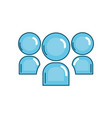 teamwork connection media technology icon vector image