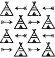 Teepee and arrows seamless pattern aztec