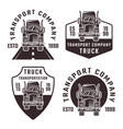 truck set of four black vintage emblems vector image vector image