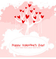 Valentine day pink love invitation card vector image