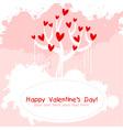 Valentine day pink love invitation card