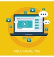 Video Marketing Concept Art vector image