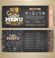 Vintage chalk drawing coffee menu design vector image