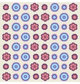 vintage flowers pattern in retro colors vector image vector image