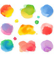 Watercolor painting icon set