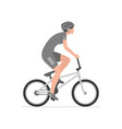 woman riding bike vector image