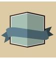 Blue vintage badge vector image