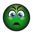 Sick green smiley Emoticon with nausea vector image
