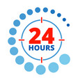 24 hours around color vector image vector image