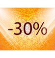 30 percent discount icon symbol Flat modern web vector image vector image