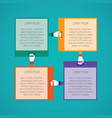 abstract 4 steps infographic template in flat vector image vector image