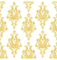 Abstract gold dust glitter damask seamless vector image