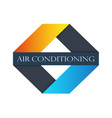 air conditioning sign vector image vector image
