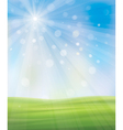background sky grass vector image vector image