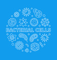 bacterial cells round concept outline vector image vector image