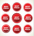 best price red sign icon vector image vector image