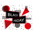 black friday sale banner black friday inscription vector image