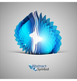 Blue Shape vector image vector image