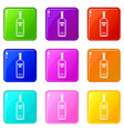 bottle of vodka set 9 vector image vector image