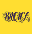 bronx new york usa label sign logo hand dra vector image vector image