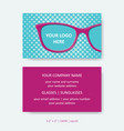business card template with eye glasses vector image vector image