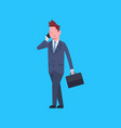 business man talking on cell smart phone male vector image