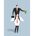 Business motivation Boss stimulates manager job vector image vector image