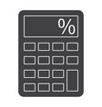 calculator silhouette vector image vector image