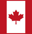 canadian red flag in the background vector image vector image