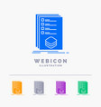 categories check list listing mark 5 color glyph vector image vector image