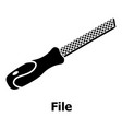 chisel icon simple black style vector image vector image