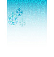 christmas background in white and blue colors vector image