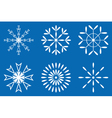 Christmas - Set of white snowflakes icon vector image vector image