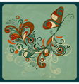 concept butterfly and abstract branch vector image