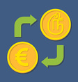 Currency exchange Euro and Tamil Rupee vector image vector image