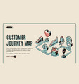 customer journey map isometric banner purchasing vector image