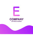 e company logo design with purple theme vector image