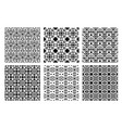 ethnic monochrome patterns set vector image