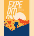 extreme outdoor adventure poster high mountains vector image vector image