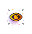 eye icon look or optical vision sign vector image vector image