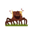 funny laughing tree stump character with funny vector image vector image