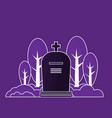 gravestone flat tombstone icon vector image